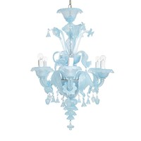 Opaline Modern 6-Light Chandelier
