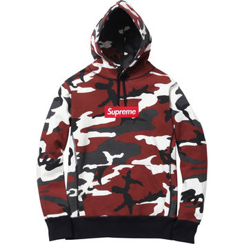 Supreme: Box Logo Pullover - Red Camo
