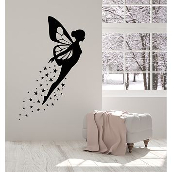 Vinyl Wall Decal Fairy Wings Fairytales Magic Child Room Stickers Mural (g3062)