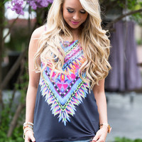 World of Color Feather Tank Black