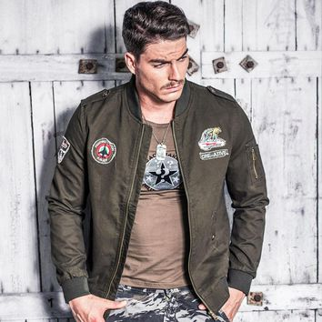 Autumn Winter Letter Men's Jackets Eagle Head Pilot Air Force Male Military Jacket Coats