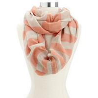 Thick Striped Infinity Scarf: Charlotte Russe