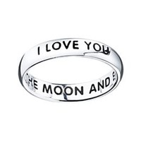 I Love You To The Moon & Back Ring