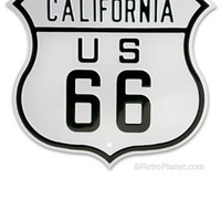 US Route 66 Sign Rt 66 Signs Route 66 California Signs California Road Signs from RetroPlanet.com