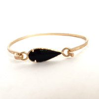 Arrowhead Bangle - Black