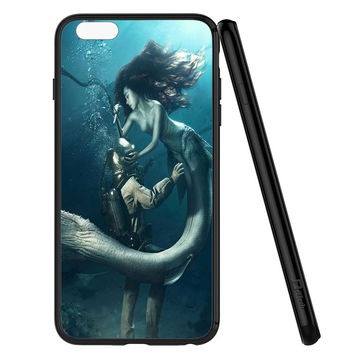DIVER AND THE MERMAID iPhone 6 | 6S Case Planetscase.com