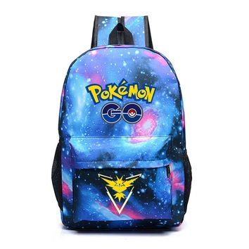 FVIP Luminous Printing Game Pokemon Go Backpack Pokemon Gengar Backpacks School Bags For Teenager Girls Mochila Feminina