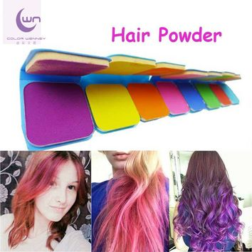 Temporary Hair Dye High Quality Blue Cake Hair Dye Chalks