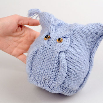 Childs Knitted Owl Hat Pattern