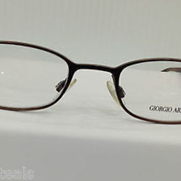 NEW AUTHENTIC GIORGIO ARMANI GA 146 COL ZK1 BROWN METAL EYEGLASSES FRAME
