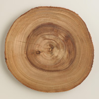 Wooden Bark Charger - World Market