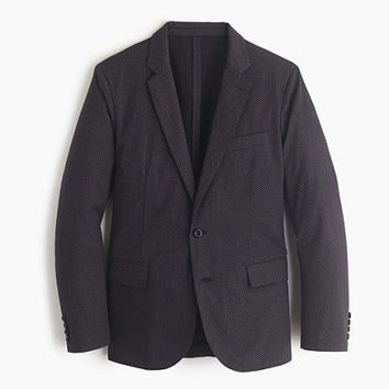 J.Crew Mens Ludlow Blazer In Washed Cross-Printed Cotton