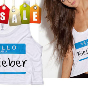 Belieber Cropped Tank Top (Preorder)