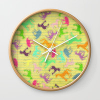 Strike a Unicorn Pose Wall Clock by That's So Unicorny