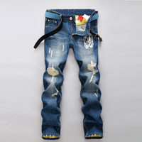 Winter Strong Character Fashion Men Pants Men's Fashion Korean Jeans [6528534211]