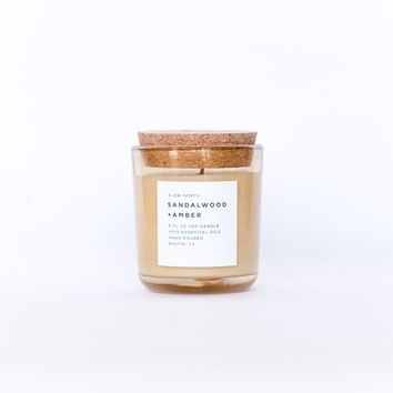 Sandalwood and Amber Slow North Soy Candle