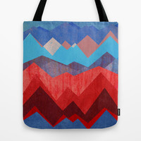 Red sun Tote Bag by Elisabeth Fredriksson