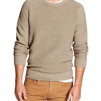Banana Republic Mens Factory Crew Neck Sweater Size S - Light oatmeal heather