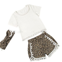 Leopard Pom Pom set- Headband Included