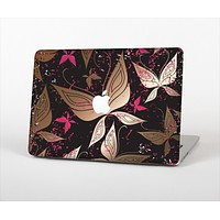 """The Gold & Pink Abstract Vector Butterflies Skin Set for the Apple MacBook Pro 13"""""""