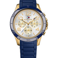 Tommy Hilfiger Women's Blue Silicone Strap Watch 38mm 1781523