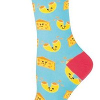 Mac N'Cheese - Novelty Crew - Women's Socks