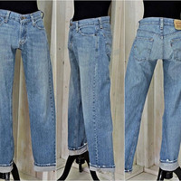 Vintage Levis 514 jeans / 29 X 32 size 6 / 7 / high waisted / straight leg /slim fit / womens  / mens