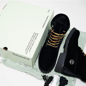 Virgil Abloh OFF-WHITE x Timberland 6 Inch Velvet Hiking Boots OWIA073E17478086