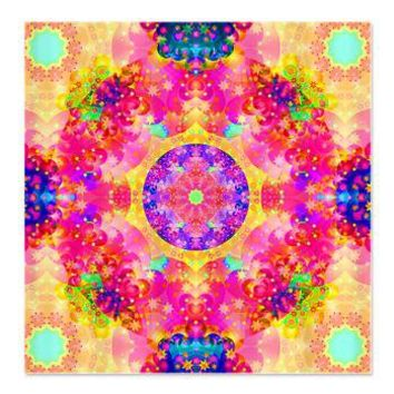 Pink Fractal Art Mandala Pattern Shower Curtain> Pink Fractal Art Gifts> Hippy Gift Shop Funky Hippie Gifts