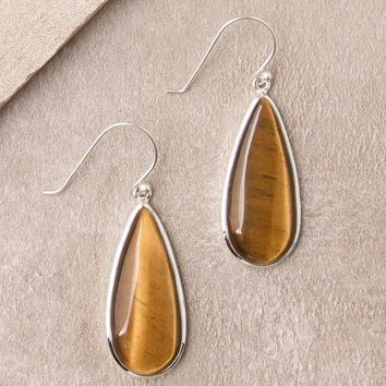 Tiger Eye Drop Earrings