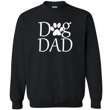 Zexpa Apparel™ Dog Dad Paw Print Unisex Crewneck Dog Dad Dog Mom rescue dog Sweatshirt