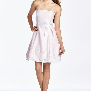 Princess Seam Dress with Laser Cut Hem Detail