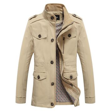The Lancaster Short Trench Light Khaki