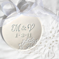 Personalized Monogram wedding ring dish
