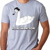 Ron Swan-Son Funny Tee | CrazyDog T-shirts
