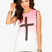 Ombré Cross Graphic Top