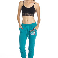 Retro Sweat Pants -Teal ed