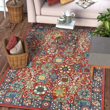 2941 Red Persian Floral Area Rugs