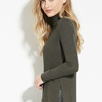 Fleece Turtleneck Sweater