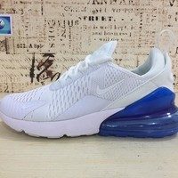 Nike Air Max 270 White Photo Blue AH8050-105 Sport Running Shoes - Best Online Sale