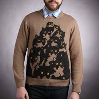Made To Order Mens Cotton Kitty Sweater. L