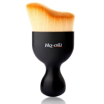 Flat Kabuki Makeup Brushes,Professional Fancy Artist Blending Makeup Brushes,Single Fluffy Makeup Tools for Face Contour with Travel Case for Cream Mineral, Liquid Powder Foundation,Face Cosmetics