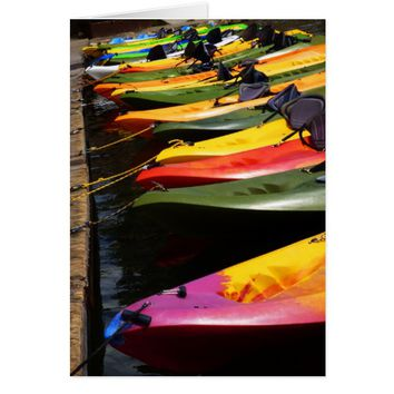 Colorful Kayaks, Blank Inside Card