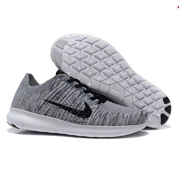 """NIKE"" The new knitted net surface breathable sneaker soft-soled running casual shoes Full color"