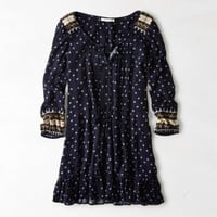 AEO PRINTED BOHO MINI DRESS