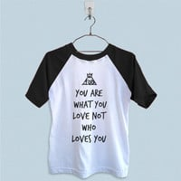 Raglan T-Shirt - Fall Out Boy Quote