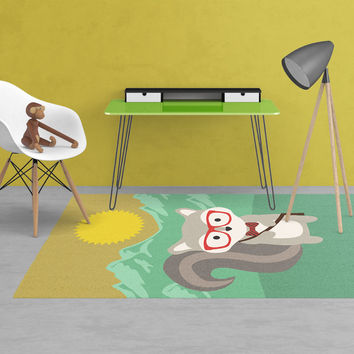 Woodland creatures Rug - Kids rugs - Animal Rugs - Nursery Area Rugs