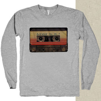 cassette guardian of galaxy t-shirt long sleeves happy feed
