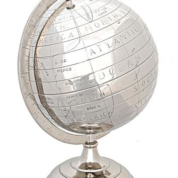 Alum Globe 13 Inches Hancrafted Globes & Globe Bars
