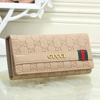 Gucci New Fashion Women Leather Buckle Wallet Purse
